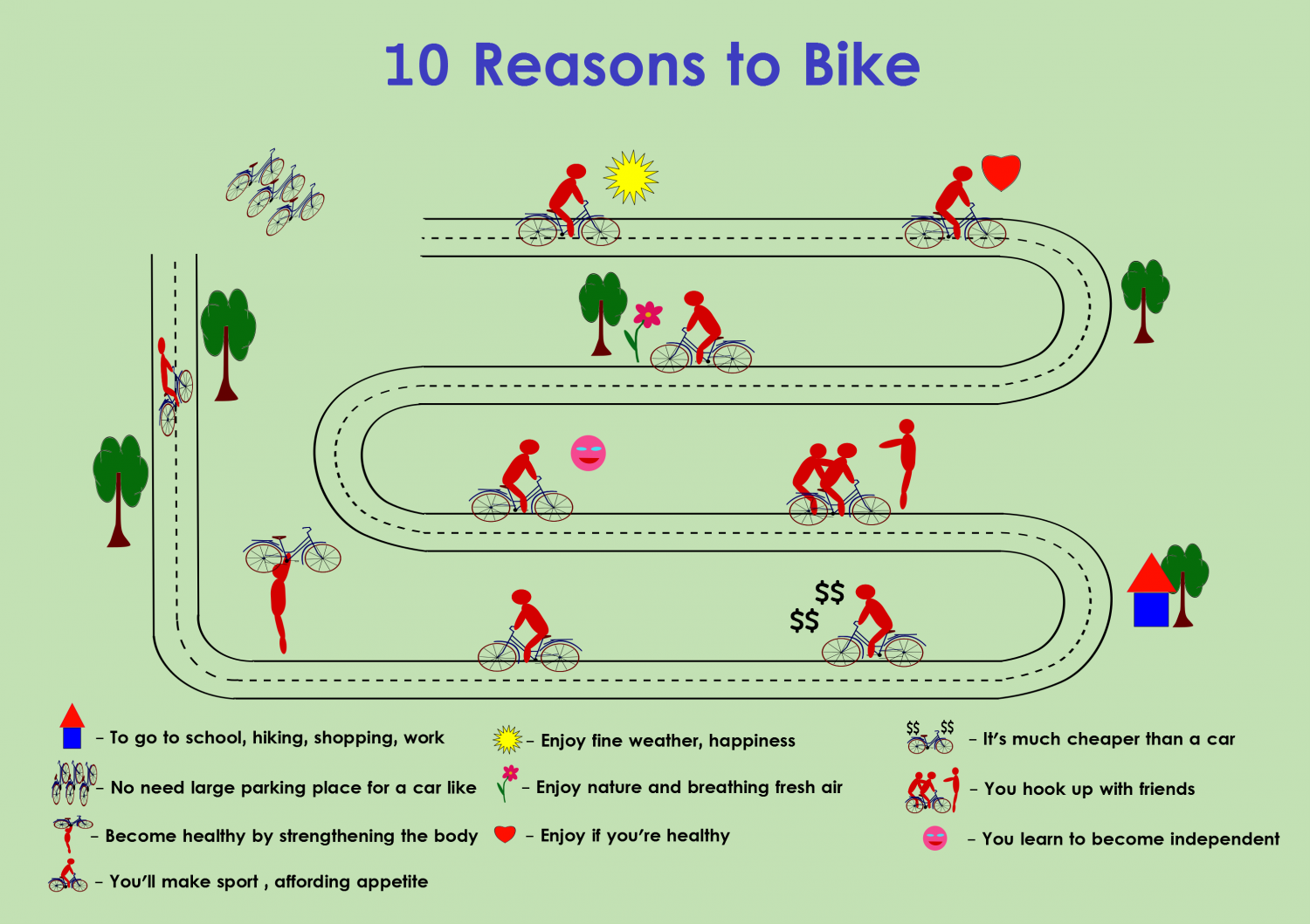 10  Reasons to Bike Infographic