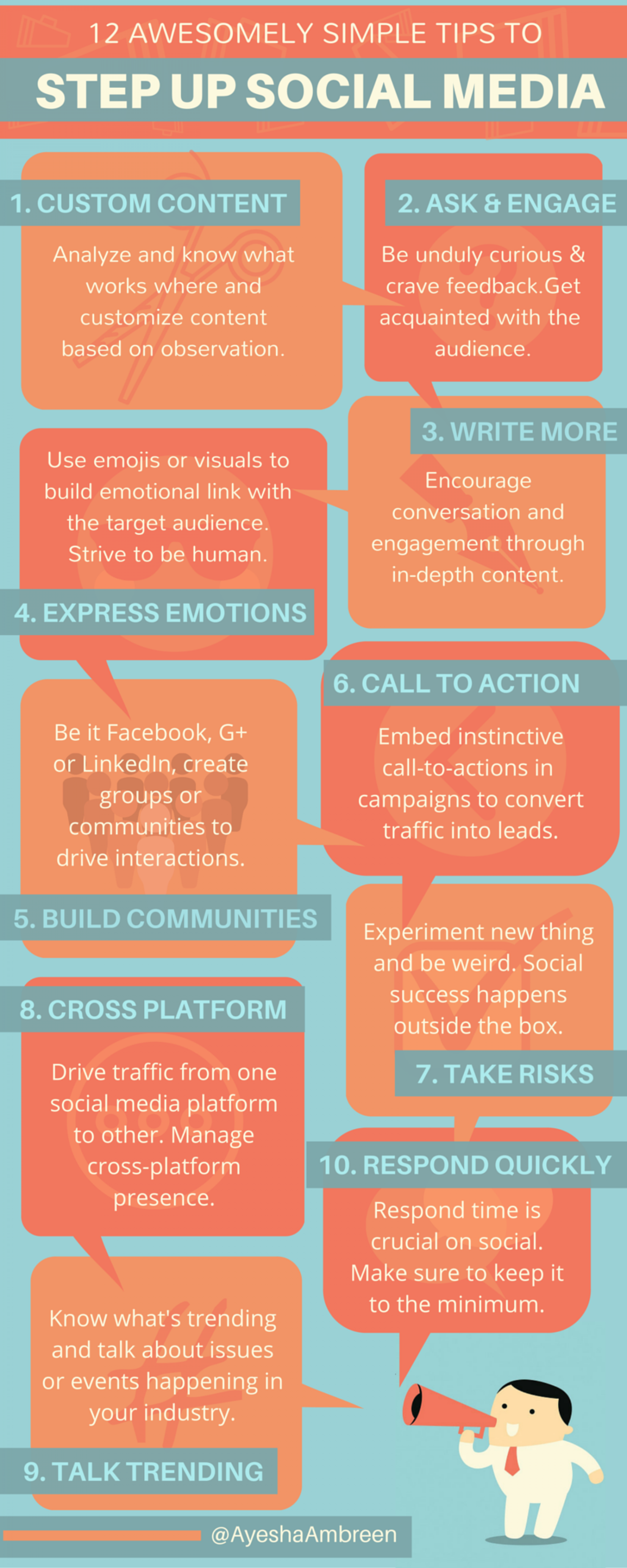 10 Awesomely Simple Tips To Step Up Social Media! Infographic
