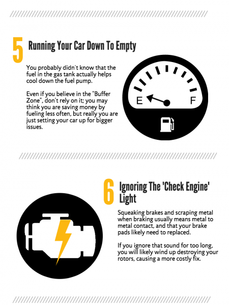 10 Bad Habits That Kill Your Car Infographic