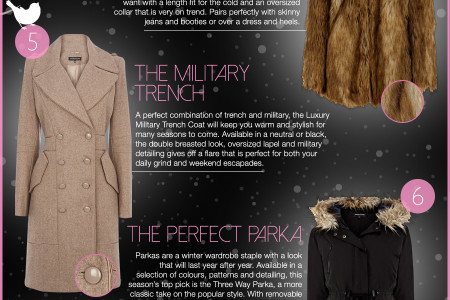 10 Best Winter Jackets & Coats for Women 2013 Infographic