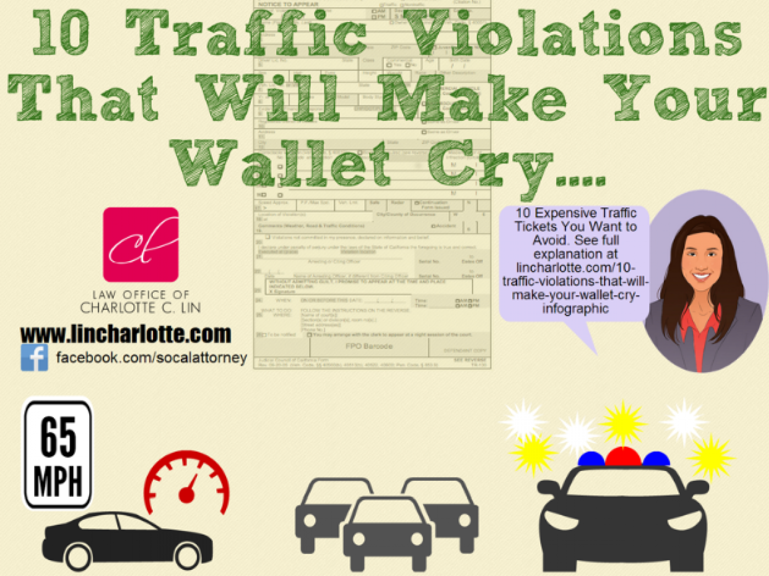 10 California Traffic Violations That Will Make Your Wallet Cry Infographic