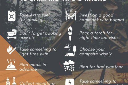 10 camping tips & hacks Infographic
