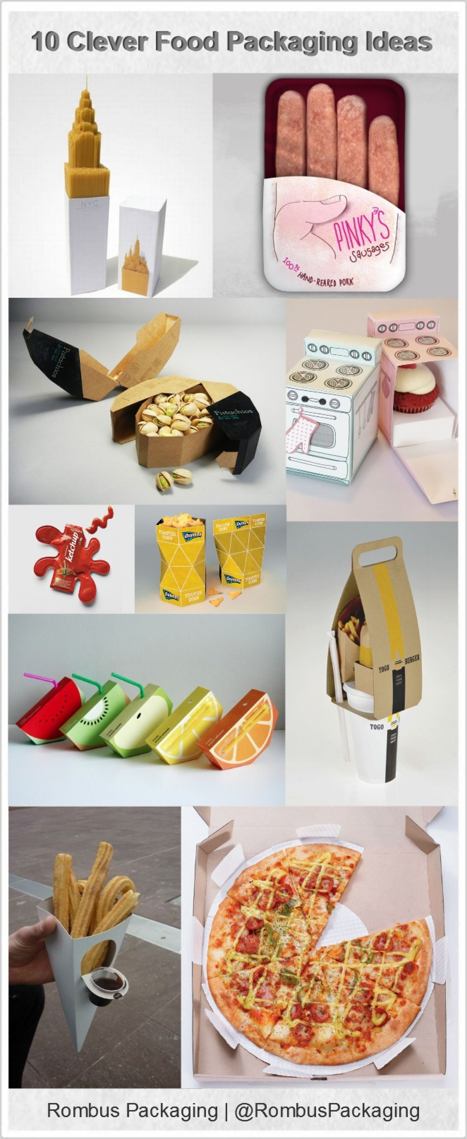 10 Clever Food Packaging Ideas Infographic