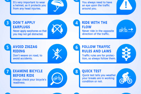 10 Common Rules  to Be a Good Cyclist Infographic