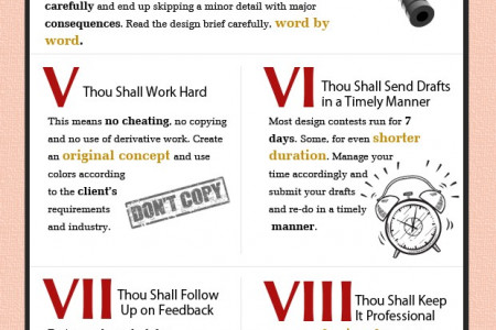 10 Commandments for New Logo Designers Infographic