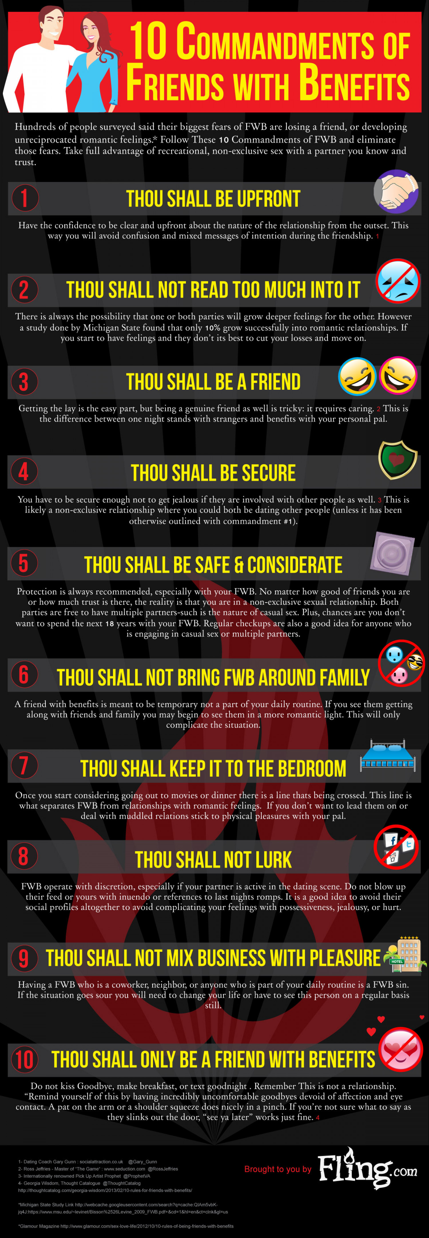 10 Commandments of Friends With Benefits  Infographic