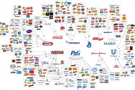 10 Corporations Control Almost Everything You Buy Infographic