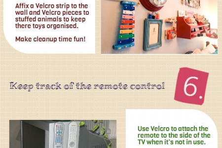 10 Creative Ways To Use Velcro Infographic
