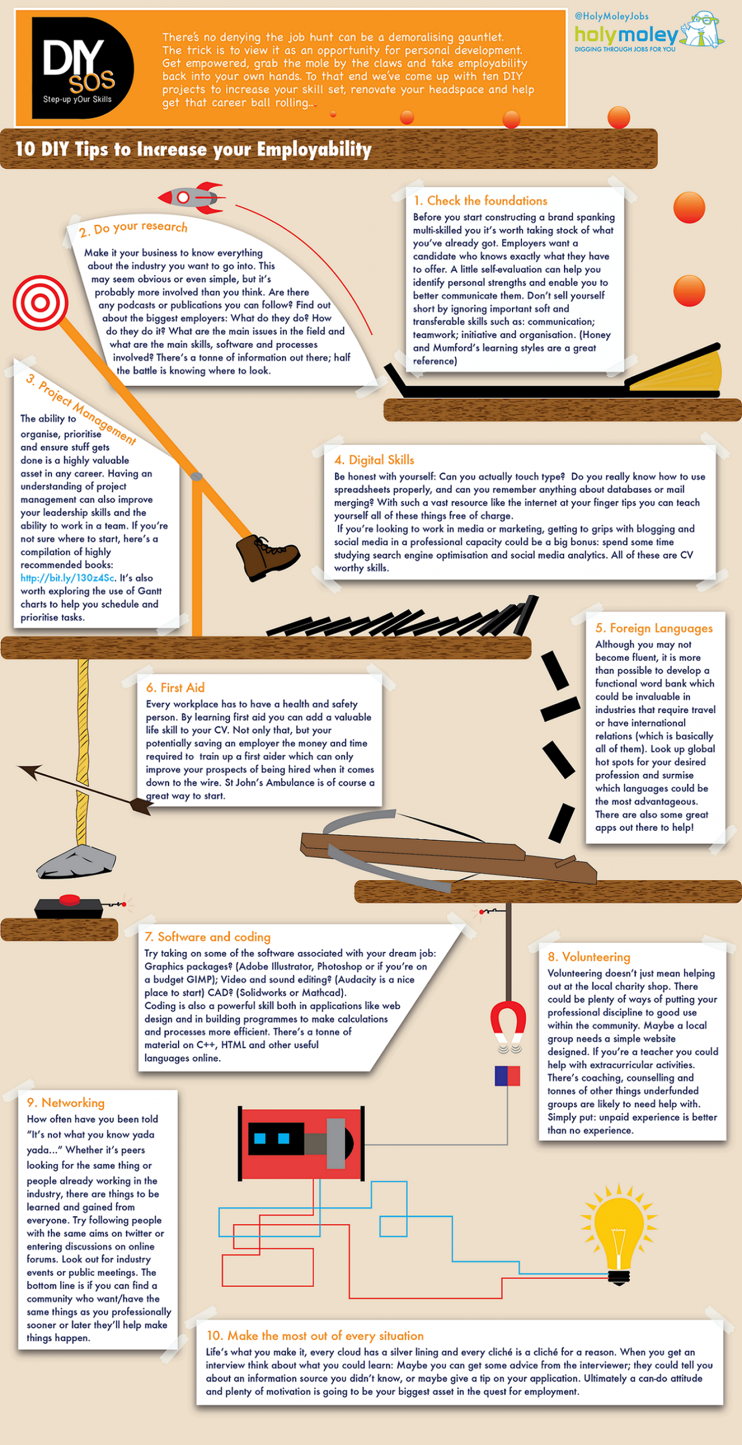 10 DIY Tips to Increase Your Employability Infographic