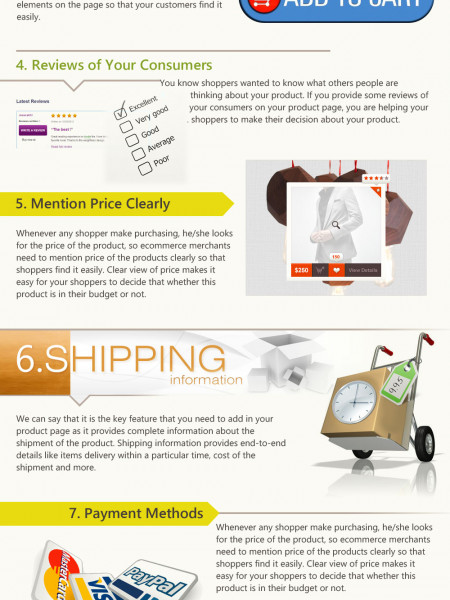 Ways to optimize your E-product page Infographic