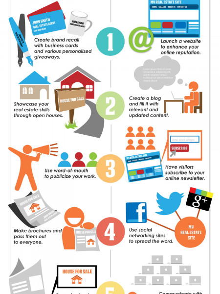 10 Effective Marketing Tips for Real Estate Agents Infographic