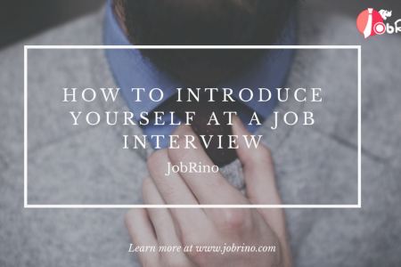10 Essential steps on how to introduce yourself at a job interview - JobRino Infographic