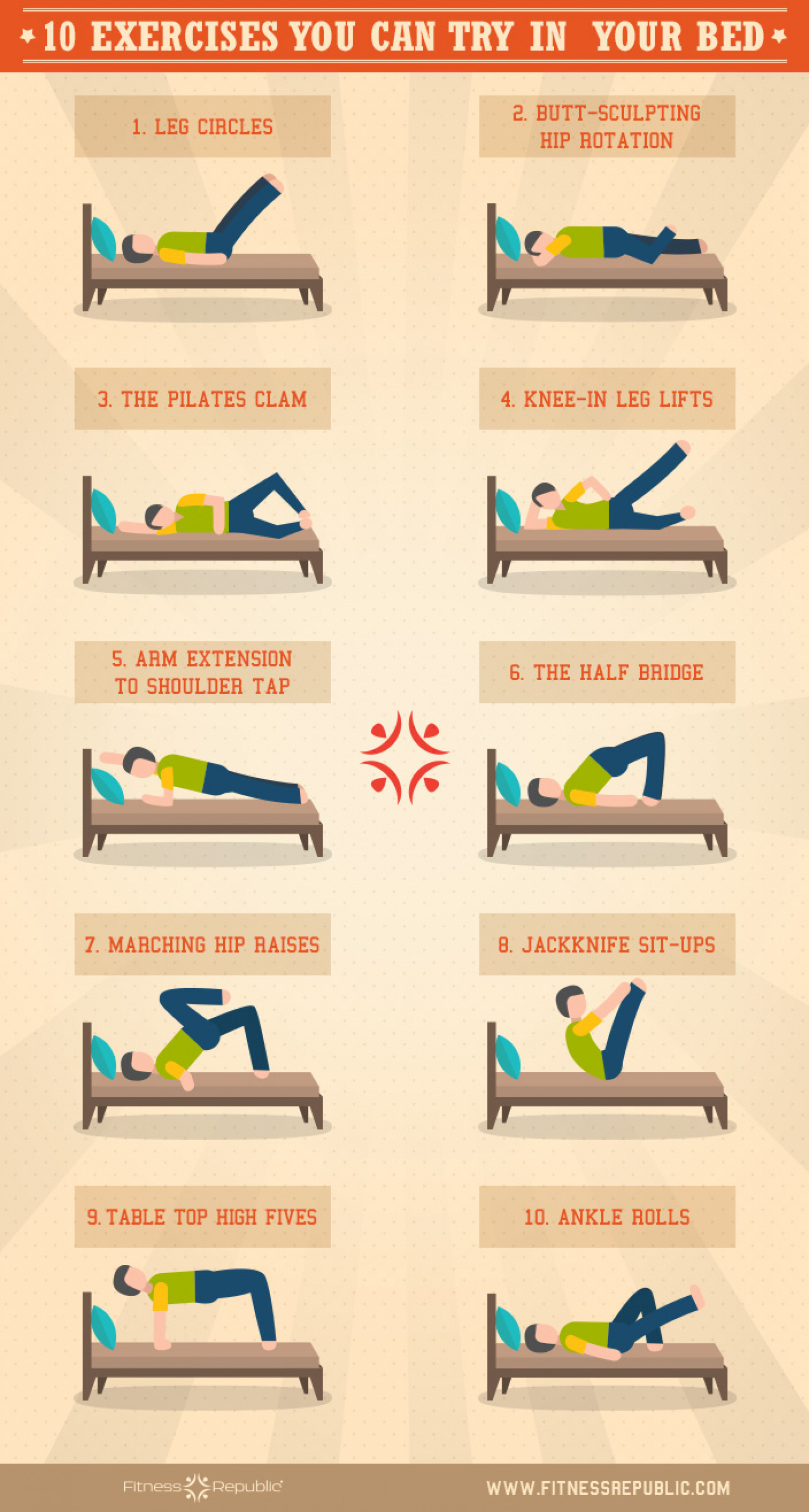 10 exercises you can try in your bed visual ly