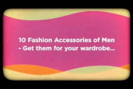 10 Fashion Accessories For Men Infographic