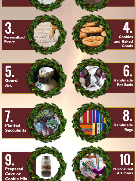 10 Great Homemade Gift Ideas Infographic