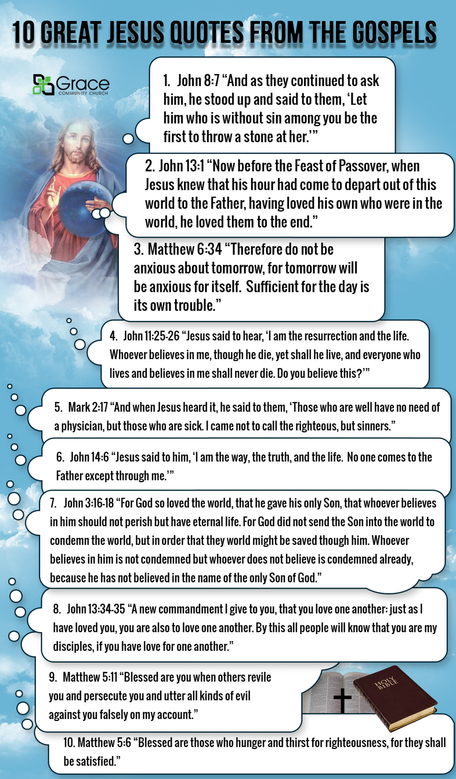 10 Great Jesus Quotes from the Gospels Infographic