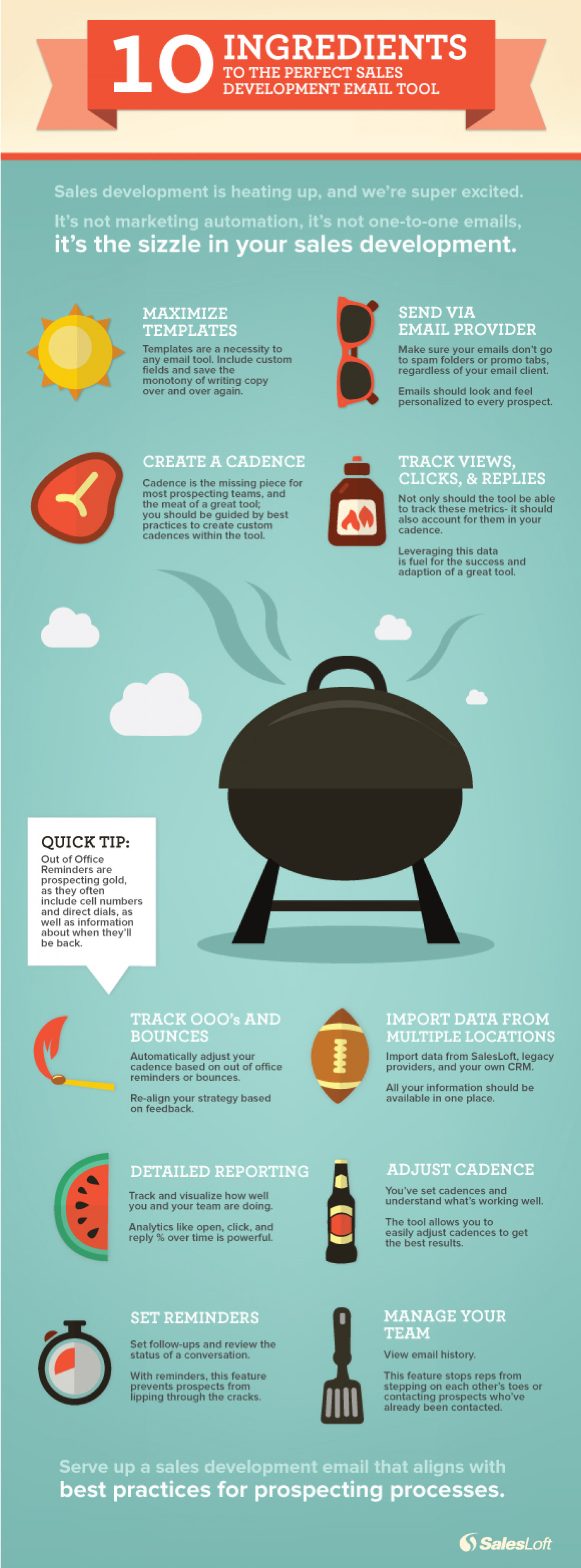 10 Ingredients To A Perfect Sales Development Email Tool Infographic