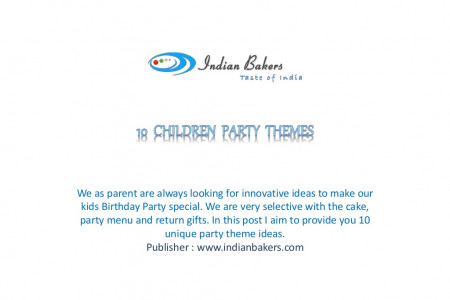 10 Innovative Ideas for Children Party Themes Infographic
