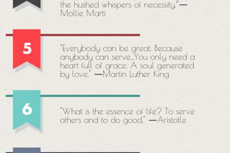 10 Inspiring Volunteering Quotes Infographic
