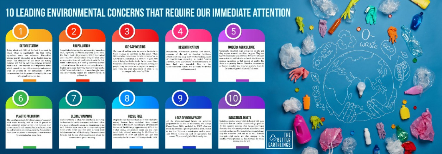 10 leading environmental concerns that require our immediate attention  Infographic