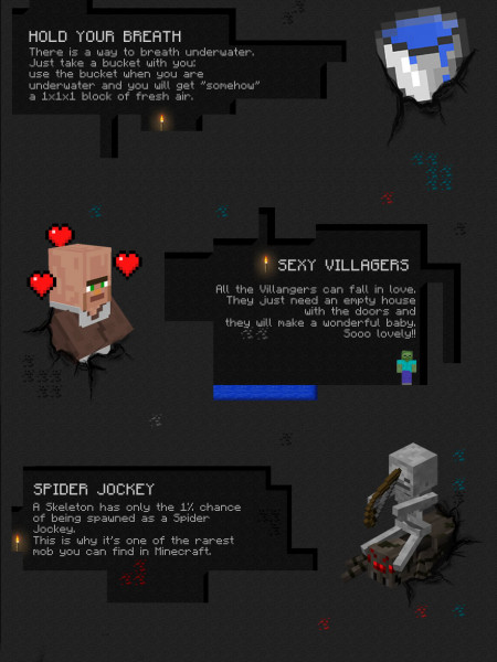 10 Minecraft Secrets Infographic