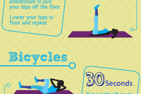 10 Minute Workout for Abs Infographic