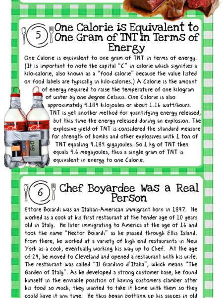 10 More Fascinating Food Facts Infographic