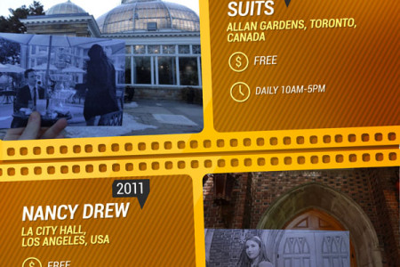 10 Movie Spots To Visit Around The World! Infographic