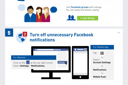 10 Practical Tips to Stop Wasting Time on Facebook Now Infographic