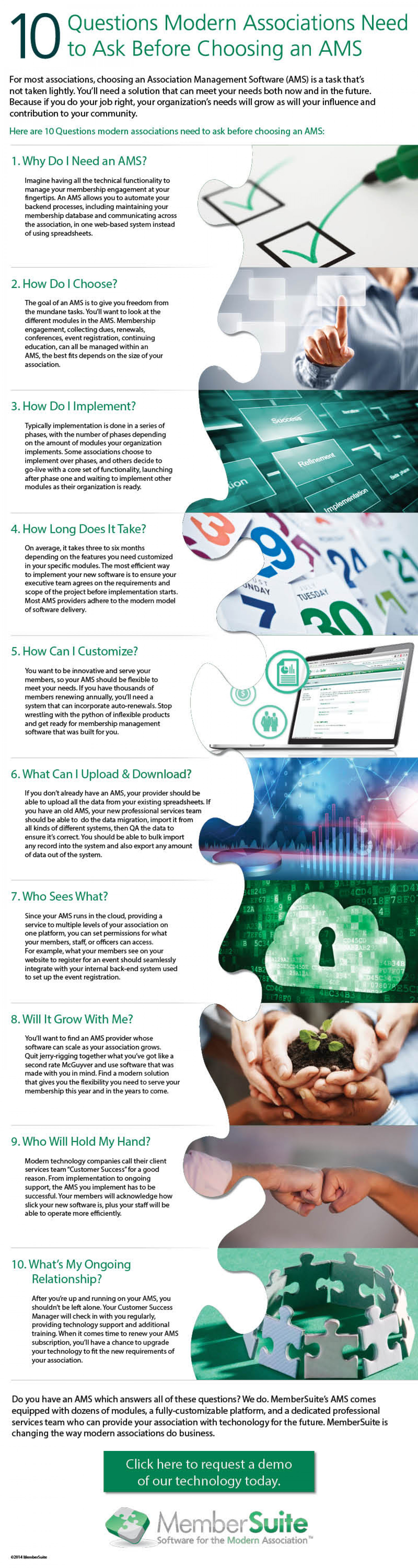 10 Questions Modern Associations Need to Ask Before Choosing an AMS Infographic