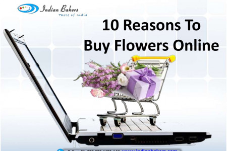 10 Reasons to Buy Flowers Online Infographic