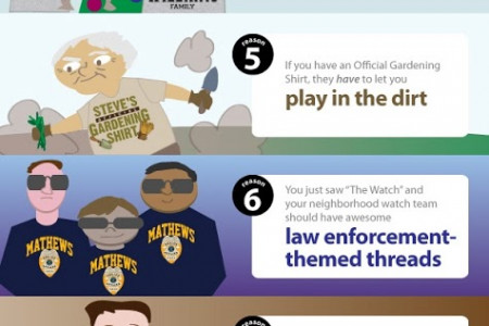 10 Reasons to Buy Personalized T-Shirts Infographic