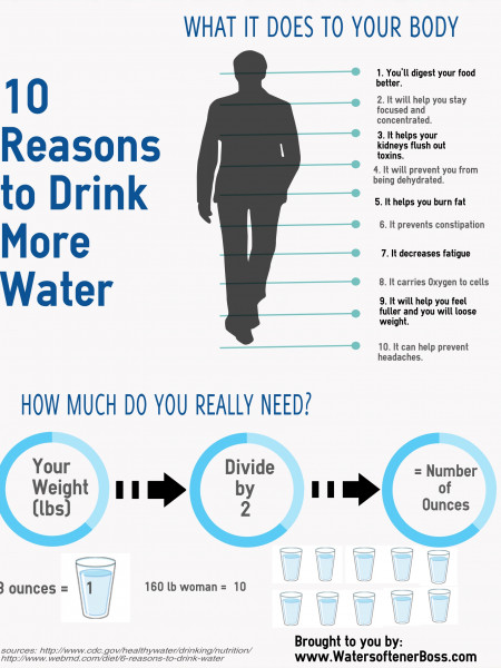 10 Reasons To Drink Water Infographic