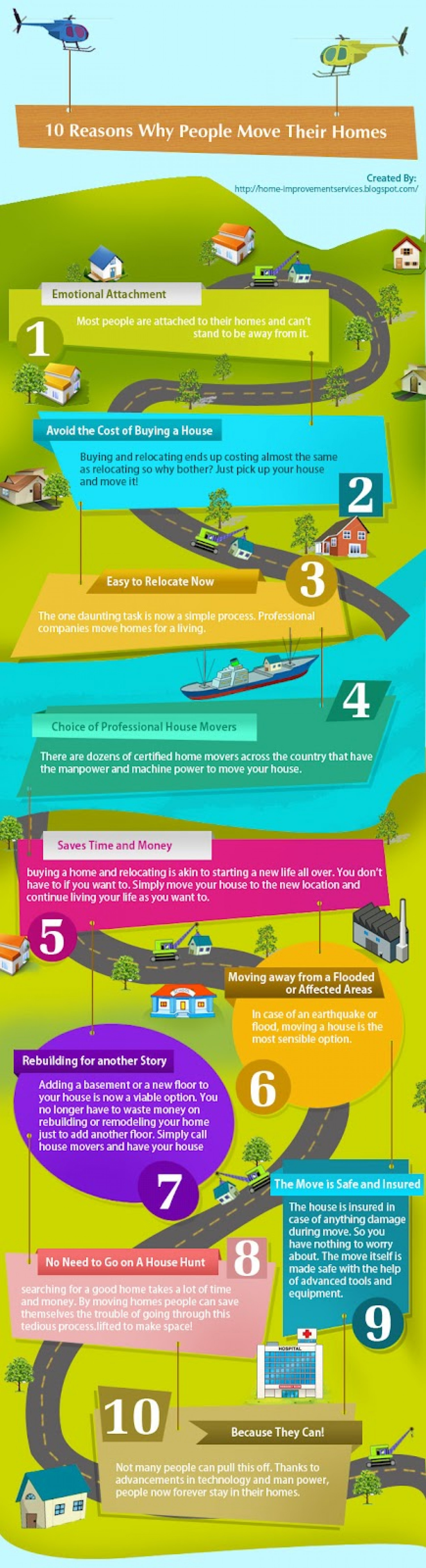 10 Reasons Why People Move Their Homes Infographic