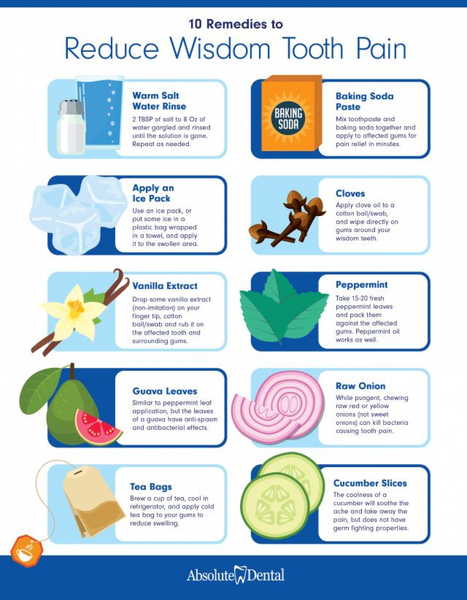 10 Remedies to Reduce Wisdom Tooth Pain Infographic