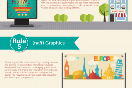 10 rules for offline marketing Infographic