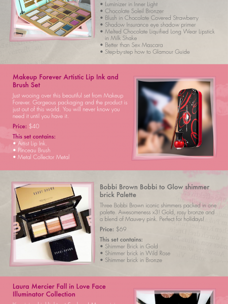 10 Sephora's exclusive Holiday 2016 make-up and beauty gifts you need to know about! Infographic
