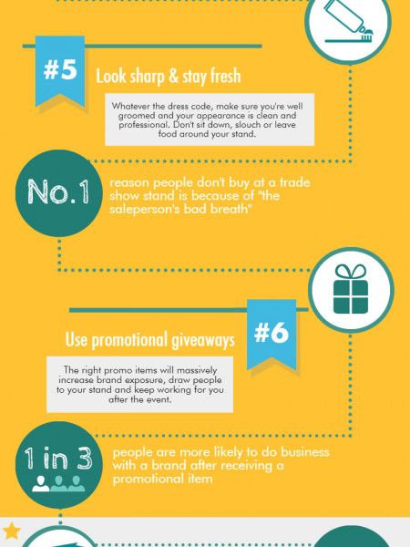10 Steps To Tradeshow Success Infographic