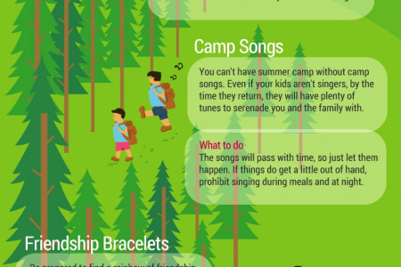 10 Summer Camp Souvenirs Infographic