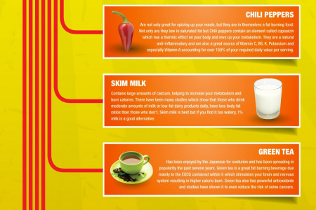 10 Super Fat Burning Foods Infographic