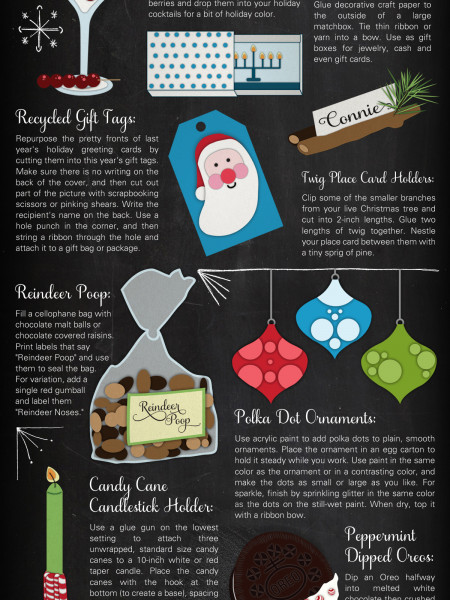 10 Ten Minute Holiday Crafts  Infographic