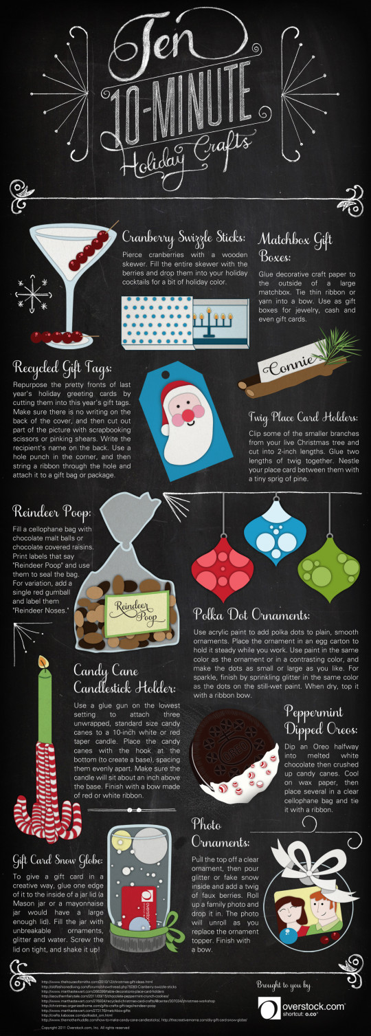 10 Ten Minute Holiday Crafts