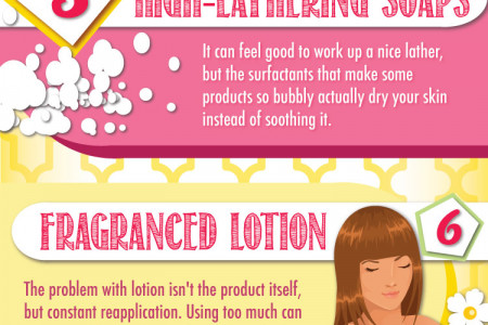 10 Thing You Can do To Stop Dry Skin Infographic