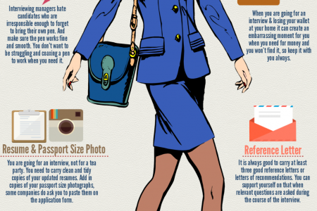 10 Things to Bring on a Job Interview Infographic