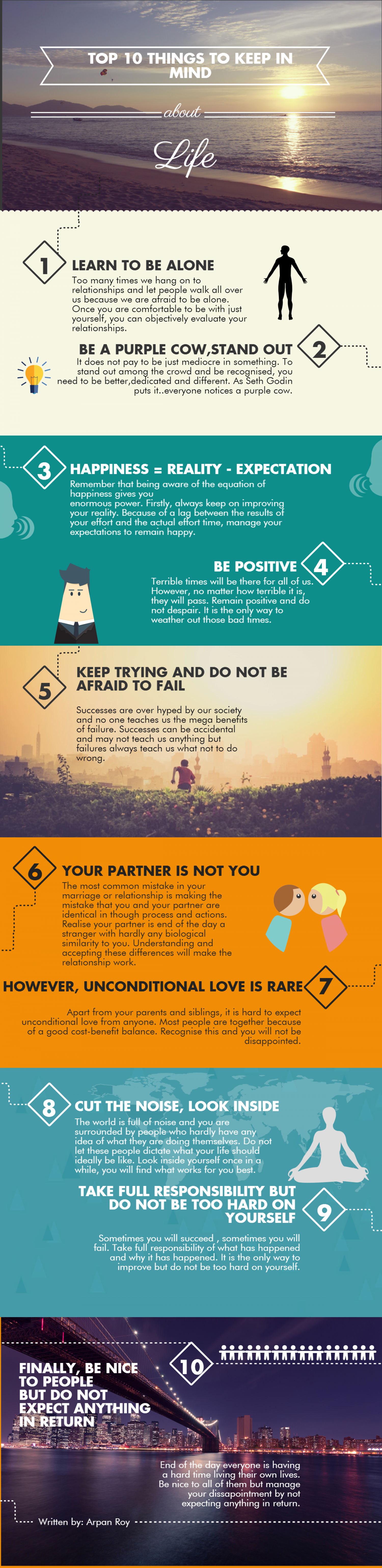 10 Things To Keep In Mind About Life Infographic