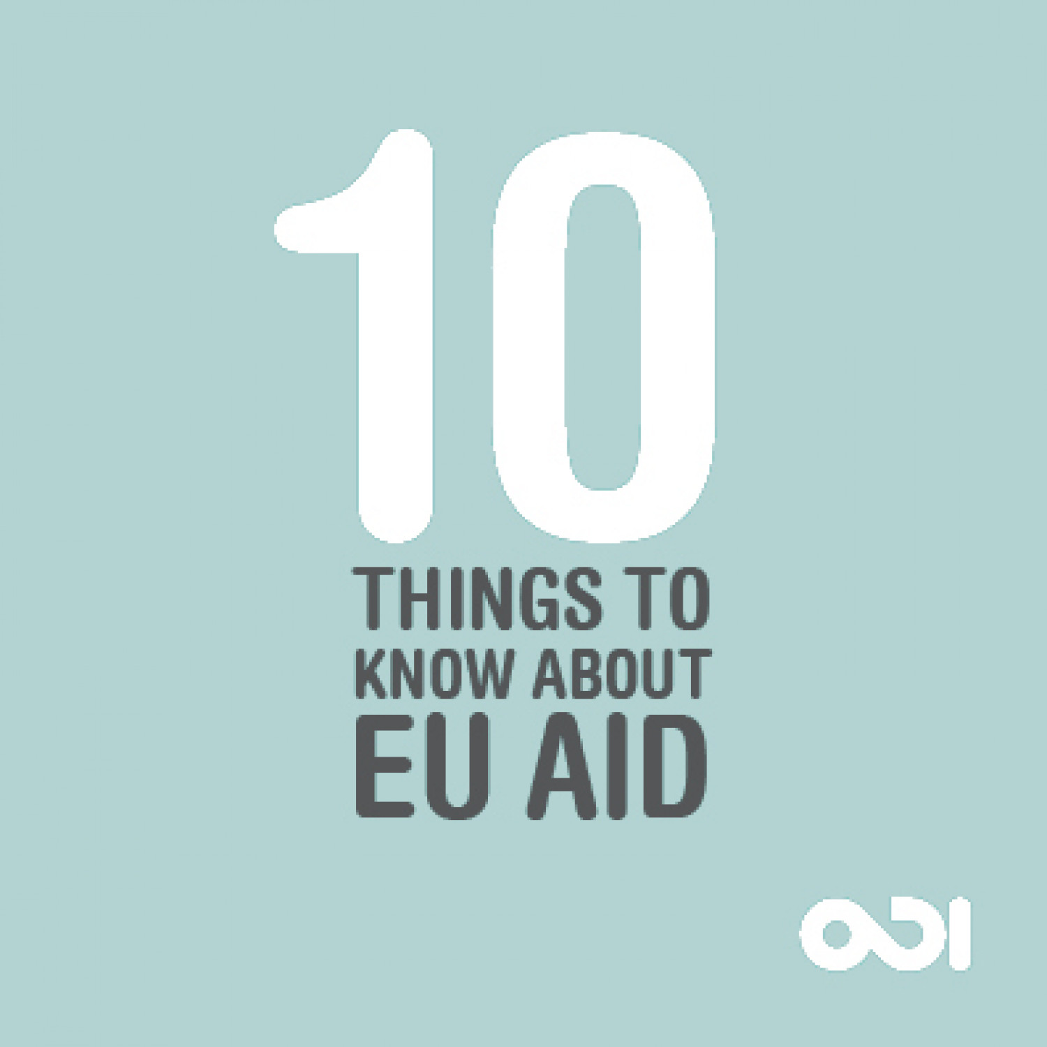 10 Things to Know About EU Aid Infographic