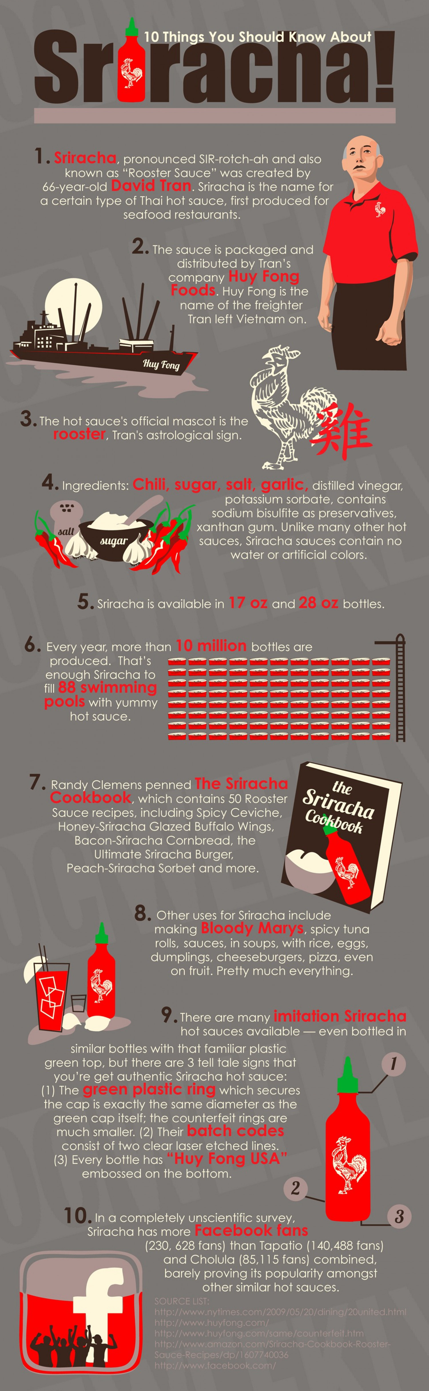 10 Things You Should Know About Sriracha Infographic