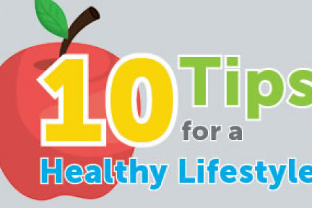 10 Tips for a Healthy Lifestyle Infographic