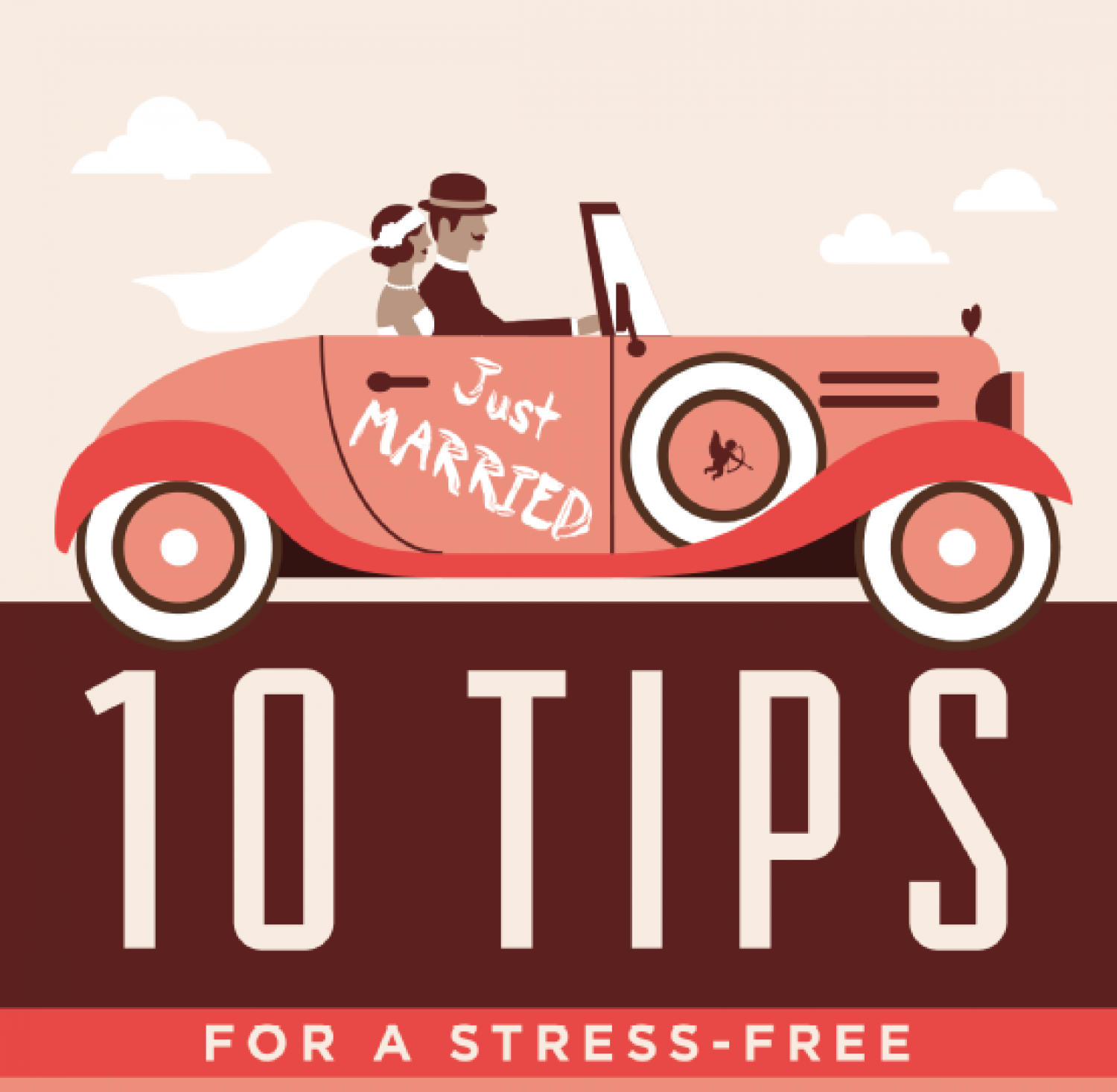 10 Tips for a Stress-Free Wedding Infographic