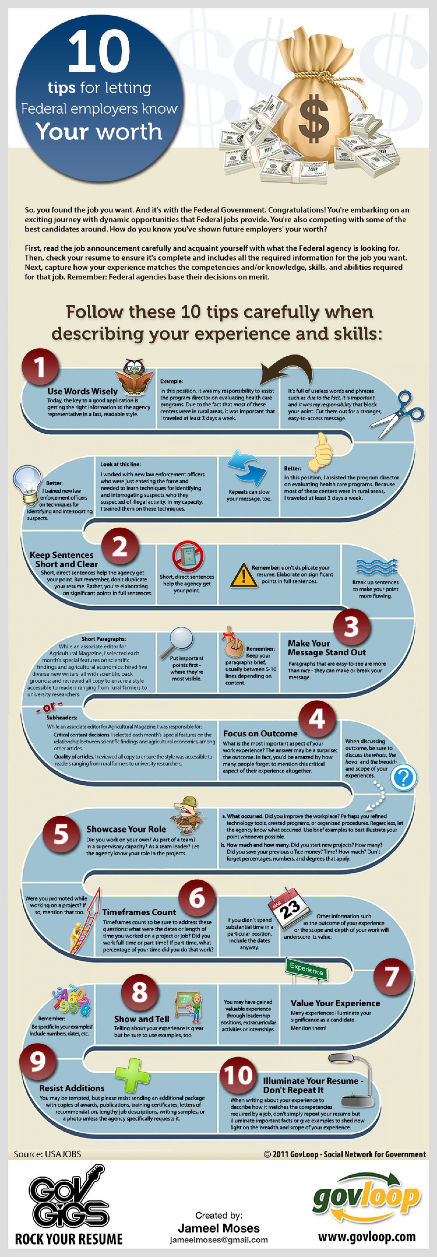 10 Tips for Letting Federal Employers Know Your Worth  Infographic